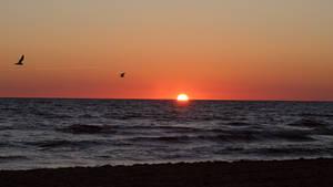 Sonnenaufgang am Strand von Baabe - 1