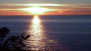 Sonnenuntergang auf dem Bakenberg, im Norden von R�gen